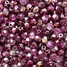 2.5mm Fire Polished, Mirror Fuschia - 100